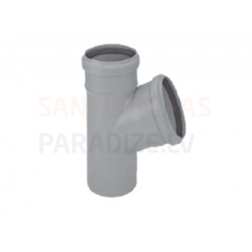 Htplus kanalizācijas atzars (trejgabals) Ø 100 (110)/100 (110) mm 45°