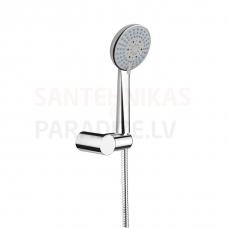 Dušas komplekts Rio (rokas duša (ø100 mm , 3 funkcijas ),rokas dušas turētājs,dušas šļūtene 1,7 m (metāla))