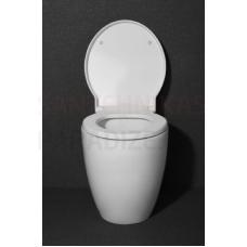 Uz grīdas montējamais tualetes pods OVALO ar iebūvējamo rāmi un Soft Close vāku