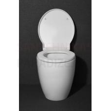 OVALO uz grīdas montējamais tualetes pods iebūvējamajam rāmim bez vāka