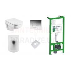 KFA MERO iebūvējamais tualetes poda (WC) rāmis + vāks Soft Close