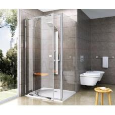 Ravak dušas siena Pivot PPS 100 balta + caurspīdīgs stikls