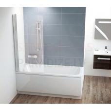 Ravak vannas siena CVS1 80 balta + caurspīdīgs stikls