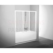 Ravak vannas durvis-siena AVDP3 170 balta + caurspīdīgs stikls