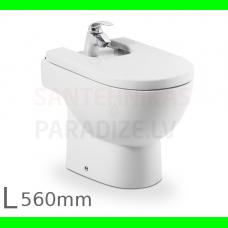 Bidē Meridian, grīdas, 360x560 mm, balts