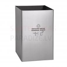 SANELA nerūsējošā miskaste, uzraksts 'nešķirojami atkritumi' tilpums 67 l