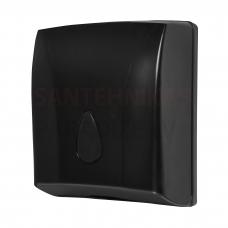 SANELA papīra dvieļu turētājs, materiāls – melna ABS plastmasa
