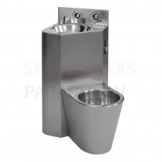 SANELA stūra piekarama tualetes poda komplekts ar izlietni, подвесной унитаз направо
