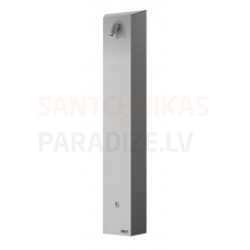 SANELA nerūsejošā tērauda dušas panelis ar Piezo pogu SLSN 01P 24V