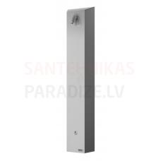 SANELA nerūsejošā tērauda dušas panelis ar Piezo pogu SLSN 01PB 6V