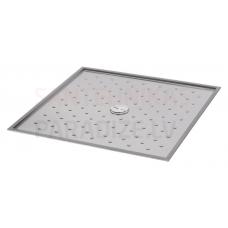 SANELA nerūsejošā tērauda dušas paliktnis SLSN 08  900x900