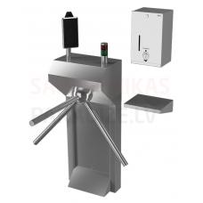 SANELA turnikets ar termovizuālo kameru un dezinfekcijas dozatoru SLKT 04S