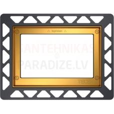 TECE montāžas rāmītis iebūvēšanai vienā līmenī ar sienu apzeltīts