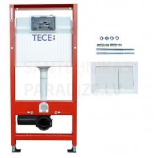 TECEprofil Base WC rāmja komplekts, balta skalošanas spiedpoga