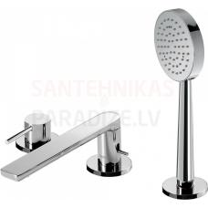 TRES ALPLUS 3-daļīgs vannas jaucējkrāns ar dušu