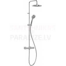 TRES BASE PLUS dušas jaucējkrāns ar termostatu, dušas komplekts-sistēma