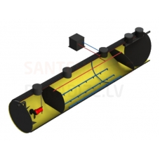VIRTE bioloģiskās attīrīšanas iekārtas BioVRT 4 (korpuss no caurules)