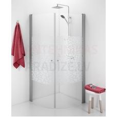 IDO dušas kabīne SHOWERAMA 10-4 VIT MOSAIC rakstains + balta 90x90x200