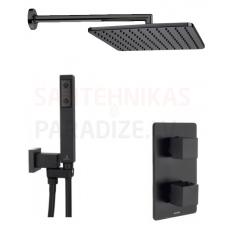 BOSSINI dušas komplekts COMO TERMO Q280 (Black)