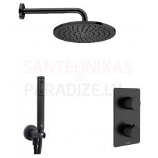 BOSSINI dušas komplekts COSMO TERMO 230 (Black)