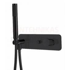 BOSSINI zemapmetuma termostata dušas/vannas jaucējkrāns (Black)