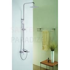 ICONA virsapmetuma dušas komplekts ar rokas dušu, lielo dušas galvu un izteces snīpi