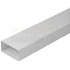 EUROPLAST plakanais kanāls plastmasas, 110x55mm, 0.5m K-0.5