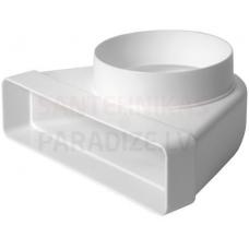 EUROPLAST līkums ar diametru plastmasas, 220x55mm, Ø100mm KLD25-100