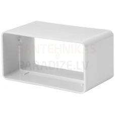 EUROPLAST plakano kanālu savienojums plastmasas, 110x55mm KS