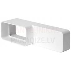 EUROPLAST plakano kanālu savienojums plastmasas, 220x55mm-110x55mm KS25-15