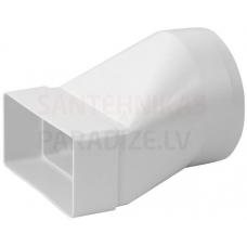 EUROPLAST pāreja uz apaļo plastmasas, 220x55mm, Ø125mm KSD25-125