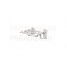 FANECO Dušas krēsls, SKPU SW B, cinkots tērauds, balts