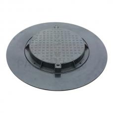 GINMIKA Plastmasas meliorācijas / kanalizācijas kanalizācijas vāks 780 PE 120cm