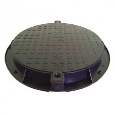 GINMIKA Plastmasas meliorācijas / kanalizācijas kanalizācijas vāks 780 PE 78cm melna