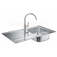 Grohe virtuves izlietne K200 ar maisītāju BauEdge 86x50cm stainless steel/chrome