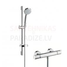 Hansgrohe termostata jaucējkrāns ar dušas komplekts ECOSTAT 1001 CL