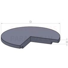 Dzelzbetona grodu vāks KL 9-2 870 x 650 x  80 mm