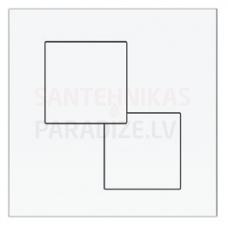 KKPOL P02 sienā iebūvējama poda poga (balta)