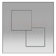 KKPOL P02 sienā iebūvējama poda poga (hroms)