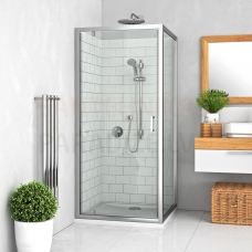 Roltechnik dušas siena LEGA LINE LLB brilliants + caurspīdīgs stikls 190x90