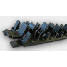Tweetop montāžas sliede grīdas apsildei ar iegriezumu ik pēc 10cm (16-20mm) garums 1m